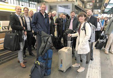 Trafikutskottet tog tåget genom Europa